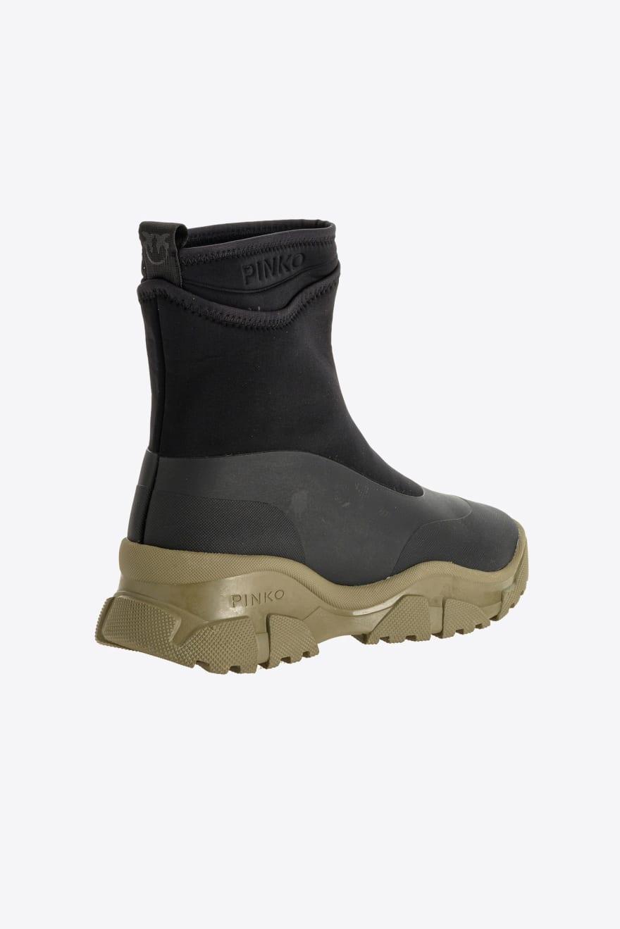 Sneakers trek boots Moss in pelle gommata Pinko