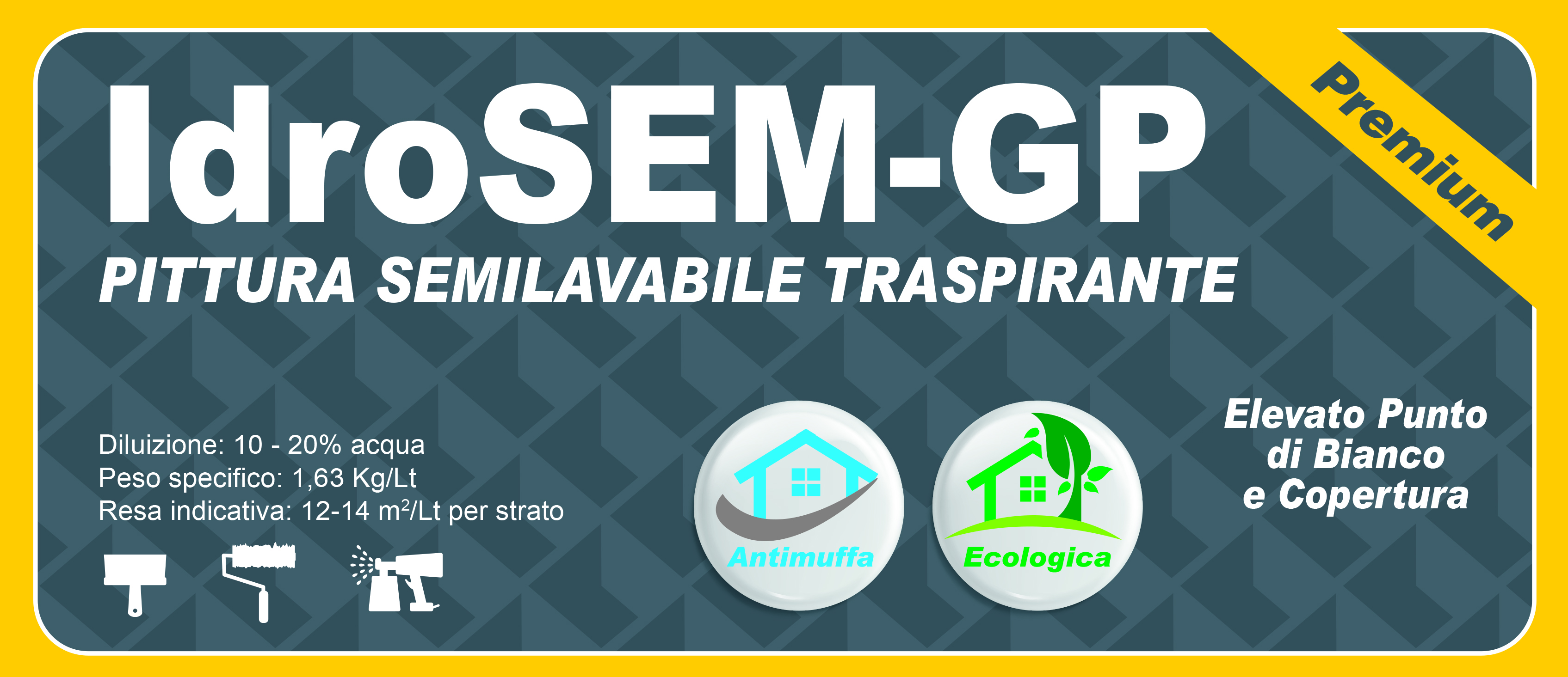 SEMILAVABILE PREMIUM - IdroSEM-GP 2,5 LT