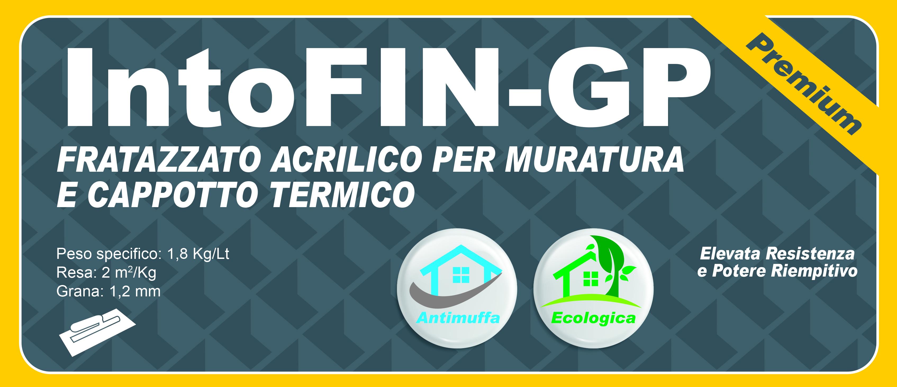 FRATAZZATO ACRILICO PREMIUM - IntoFIN-GP BIANCO 14 LT