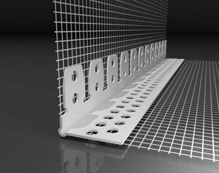 ANGOLARE IN PVC CON RETE CM 10X15 PER ARCHI (Conf 62,50 mt)