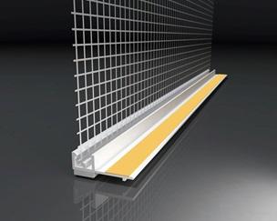 PROFILO PVC ADESIVO CON RETE PER FINESTRE MM 9 (Conf 48 mt)