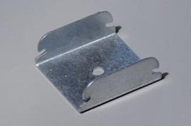 AGGANCIO A SCATTO FORO A 6 mm PROFILO 50 B.ARR. SP. 1,0 mm (Conf. Pz 100)