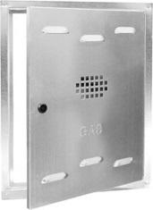 SPORTELLO GAS ZINCATO CM 55X40X2