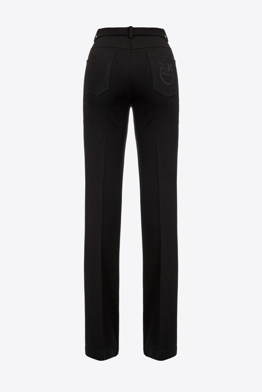 Pantalone Abha punto stoffa nero Pinko