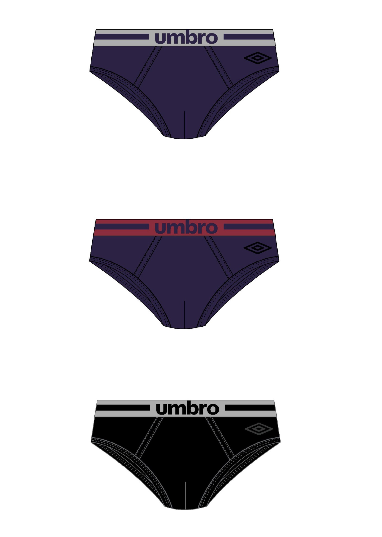3 Slip da uomo colorati in cotone elasticizzato UMBRO