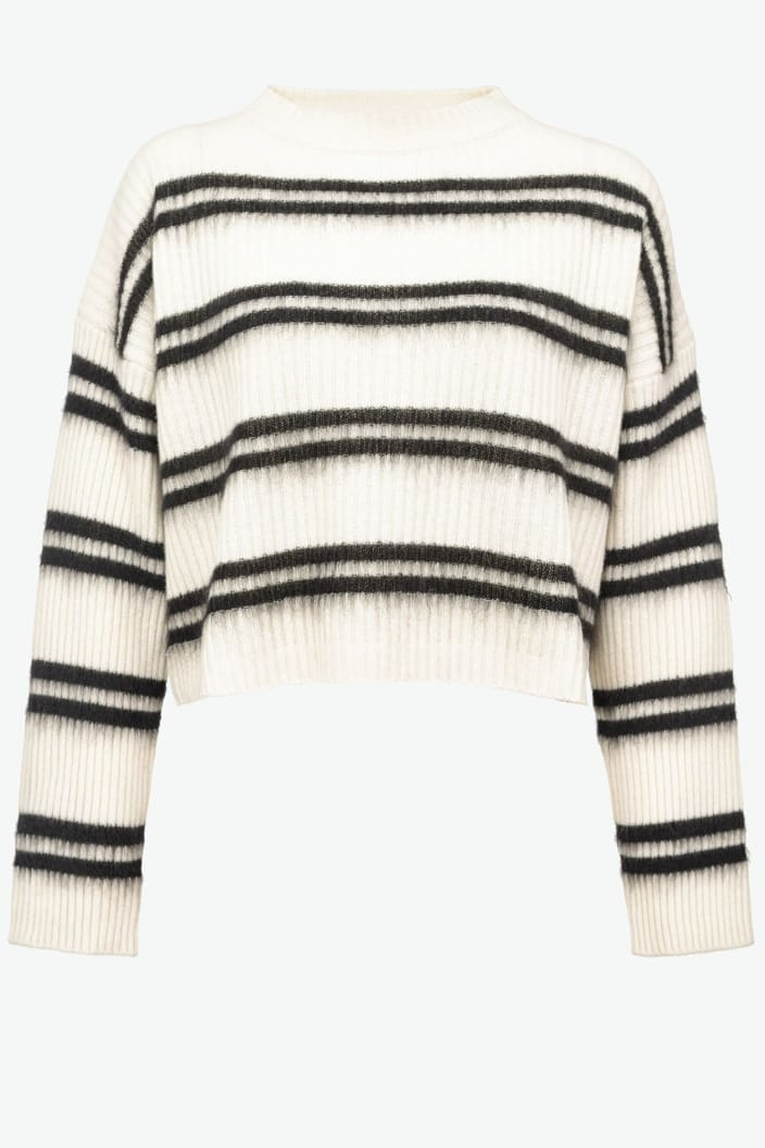 SHOPPING ON LINE PINKO  PULLOVER A RIGHE SFUMATE BARBERA NEW COLLECTION WOMEN'S FALL/WINTER 2022