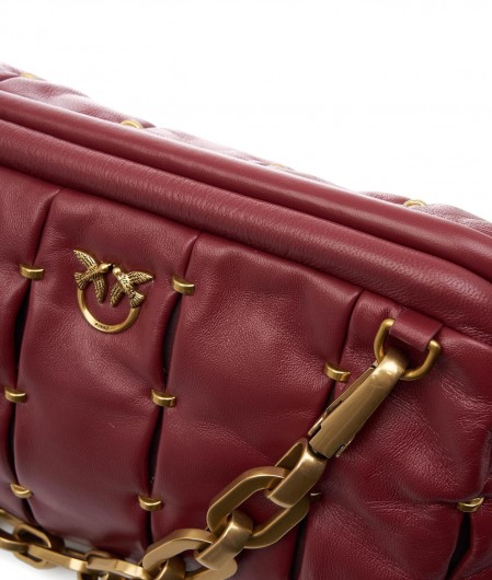 Borsa Maxy Chain Clutch Pinched rossa Pinko