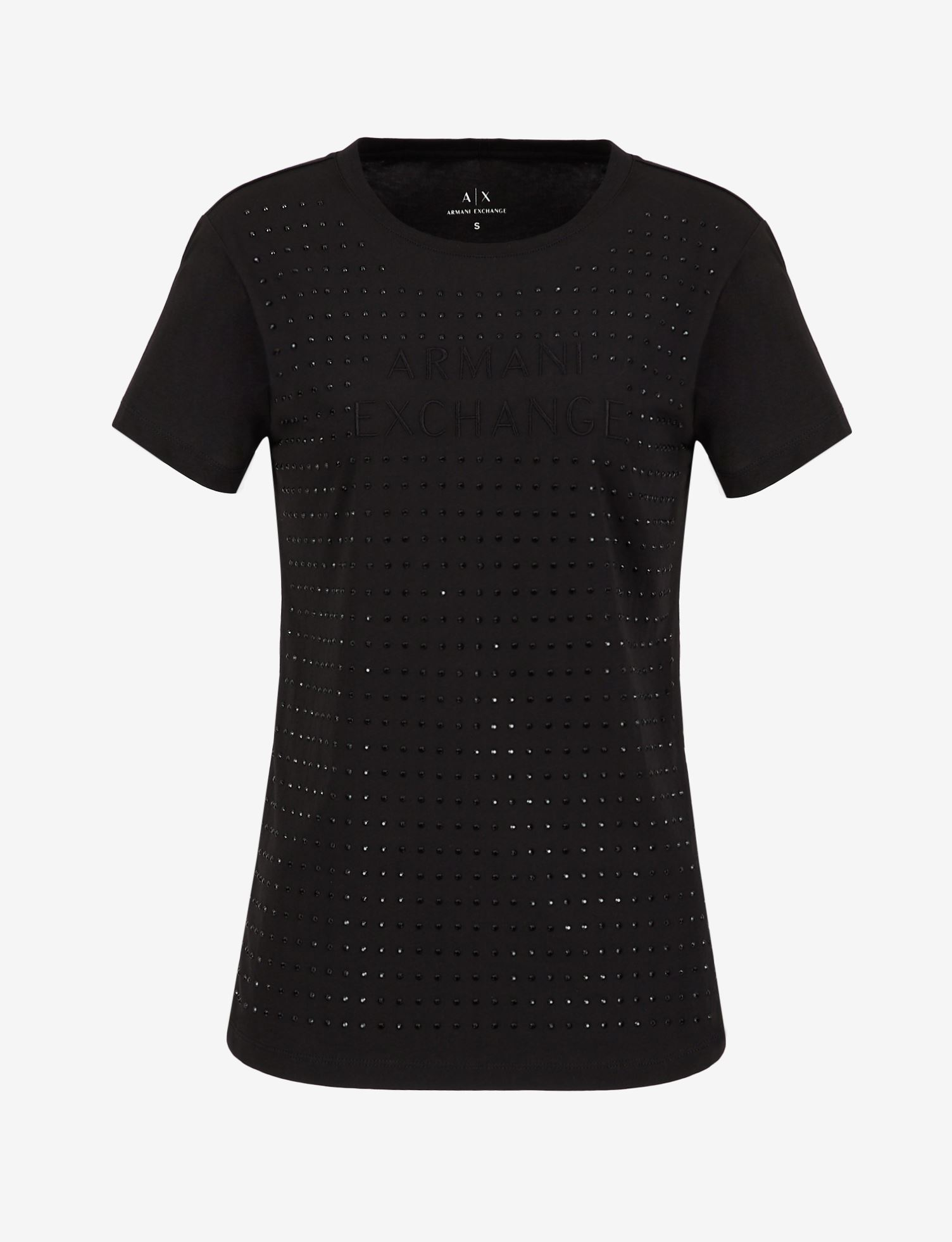 T-shirt donna ARMANI EXCHANGE borchiette