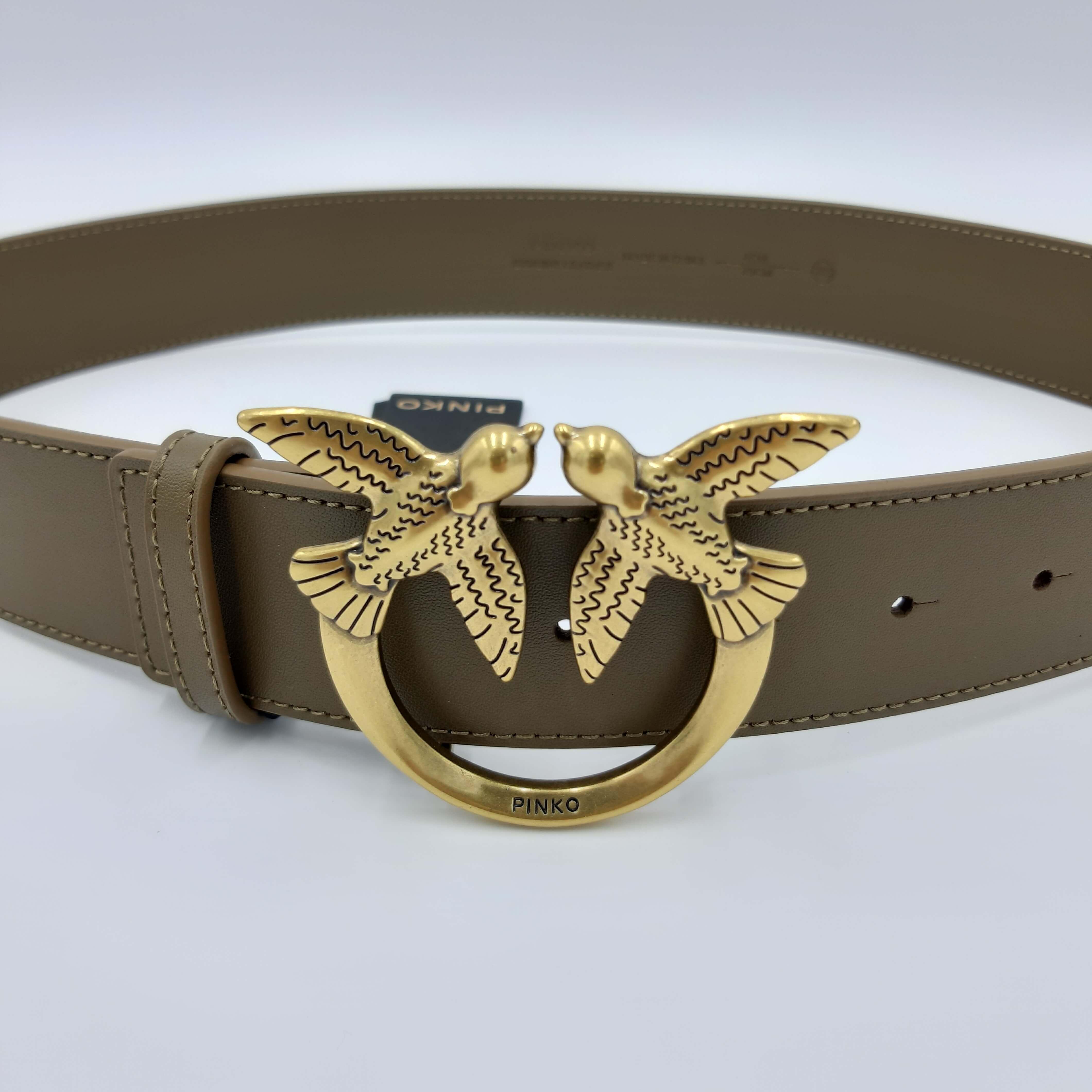 Cintura Love Berry Simply Belt H4 verde militare Pinko