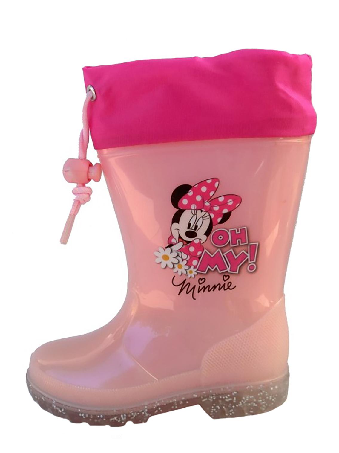 Stivali Pioggia Minnie bambina 23 24 25 26 27 28 29 Disney