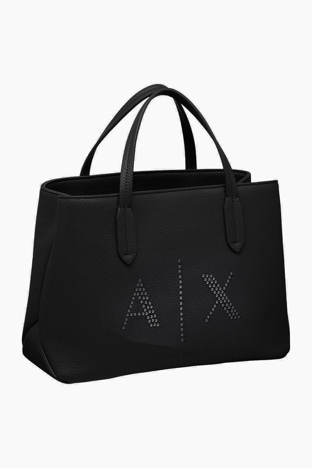 Borsa donna ARMANI EXCHANGE Shopper con logo di borchiette