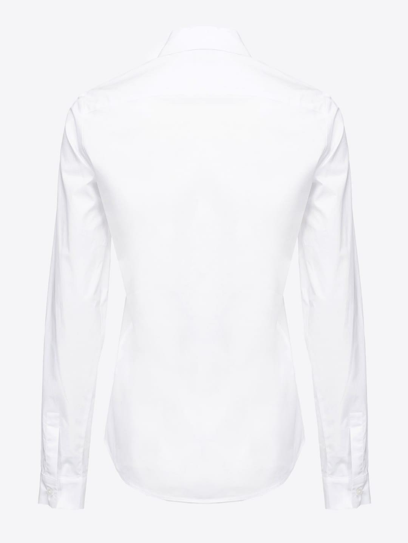 Camicia Dolcezza 6 in popeline bianca Pinko