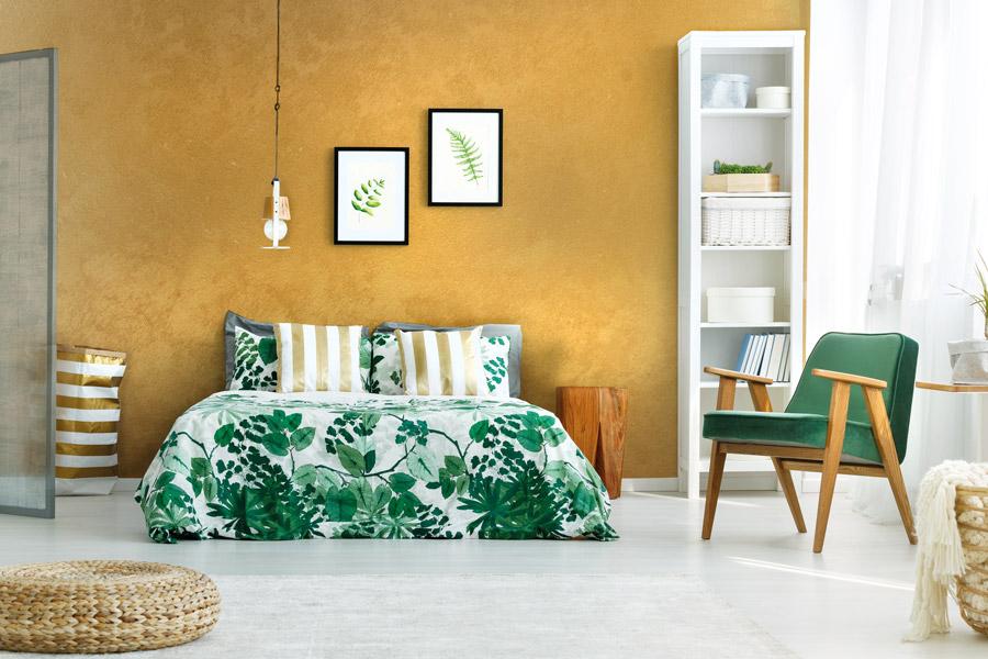 Pittura Decorativa Portofino effetto Sabbiato Oro