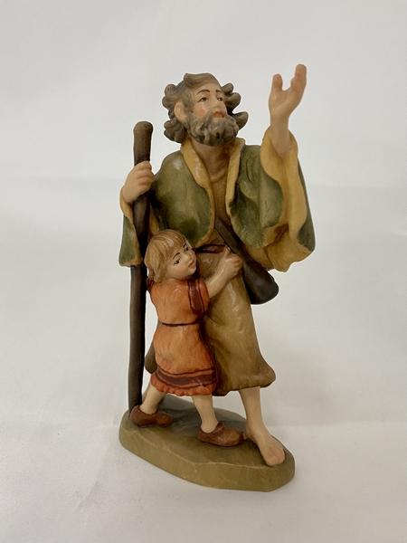 Pastore con fanciullo presepe  Fiorentino  cm.12,5