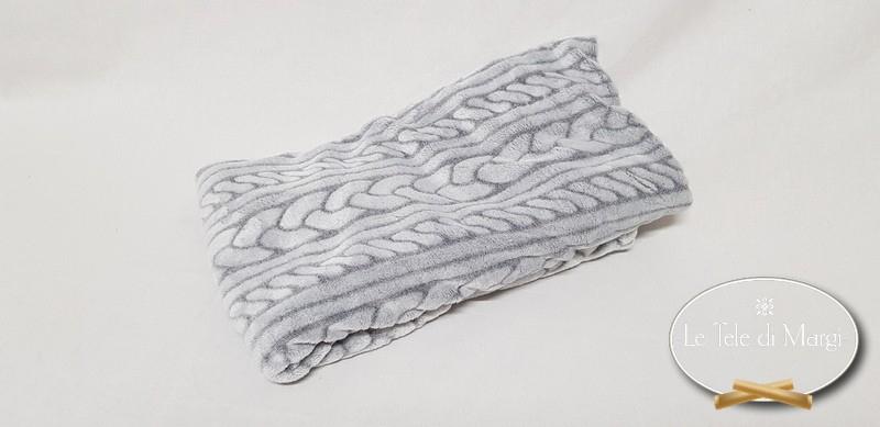 Poncho Flannel grigio