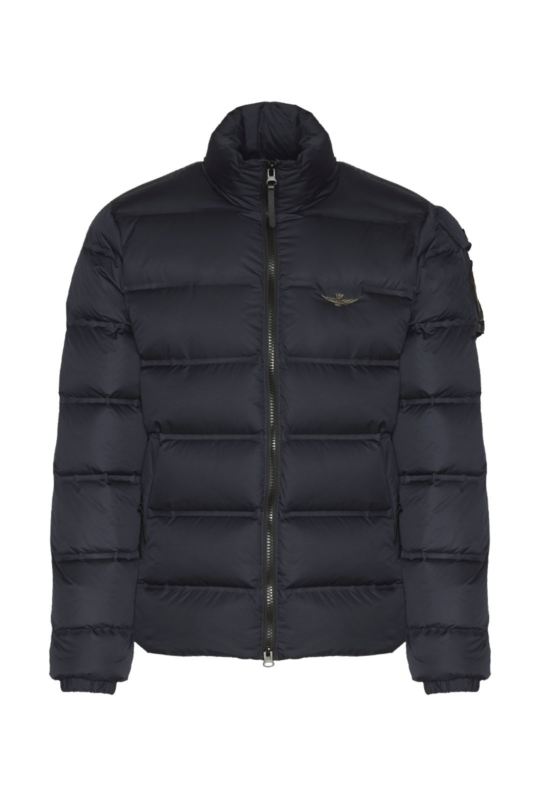 Quilted bomber jacket in real duck down