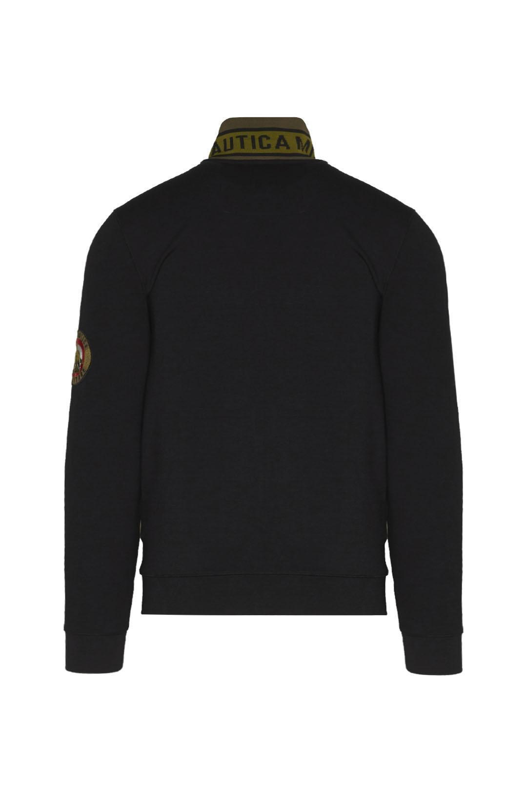 Sweatshirt en interlock avec col brodé   2