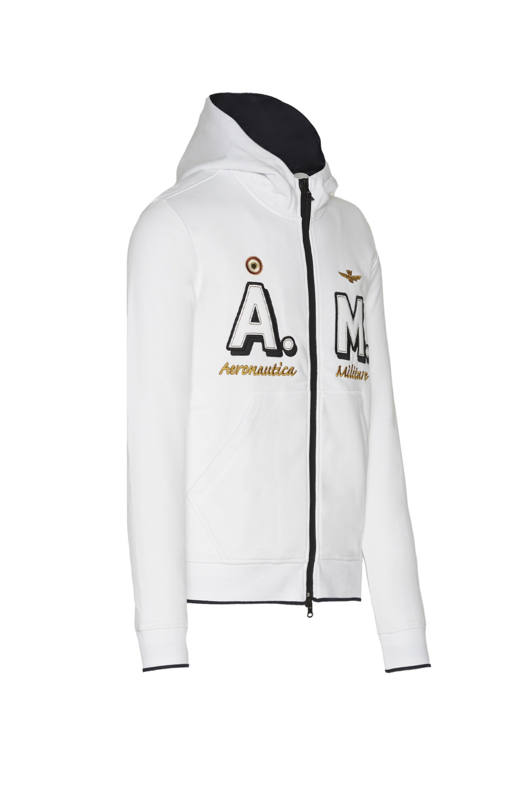 Iconic gauzed cotton AM hoodie           3