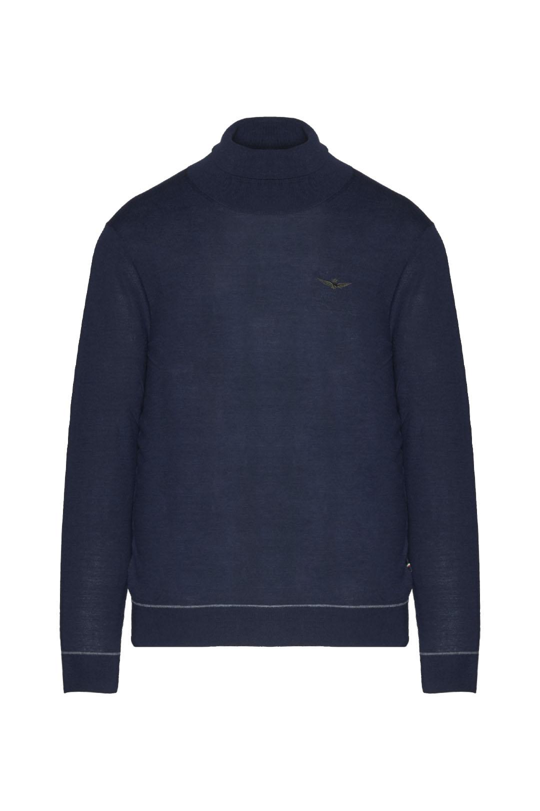 Merino wool blend turtleneck sweater