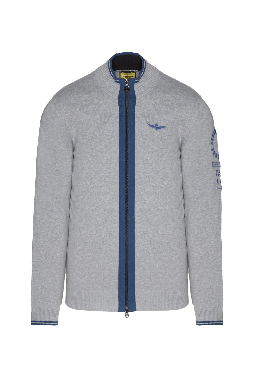 Fullzip sweater with contrasting details