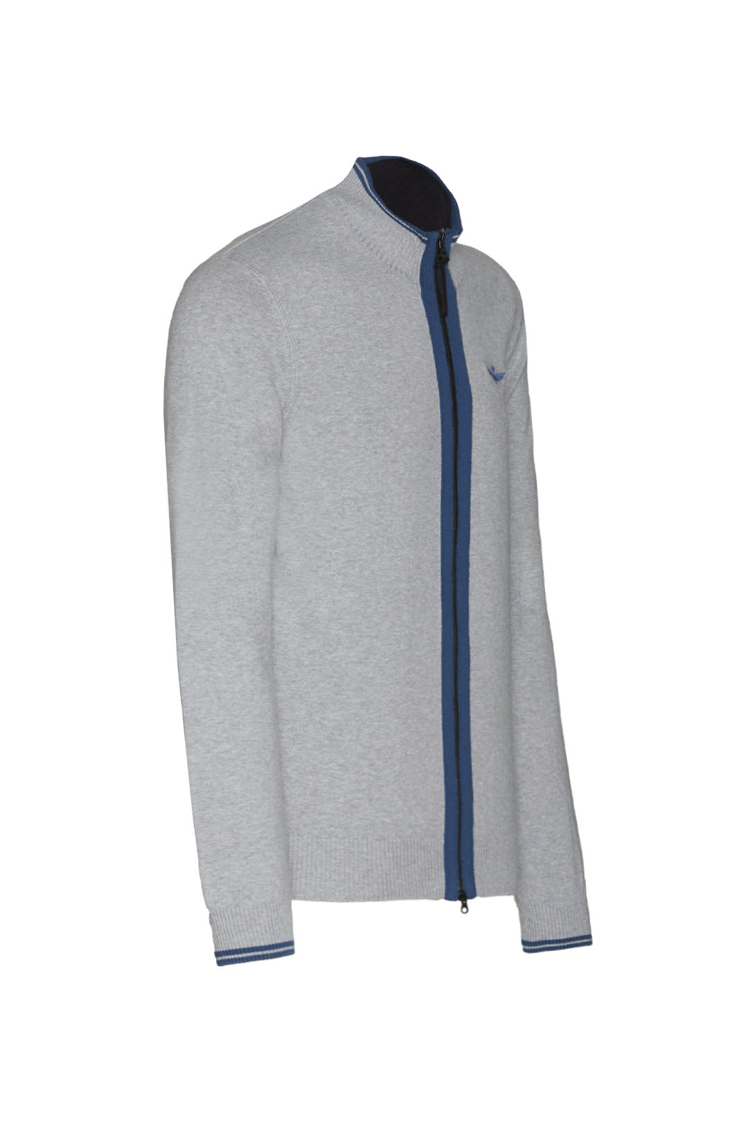 Fullzip sweater with contrasting details 3
