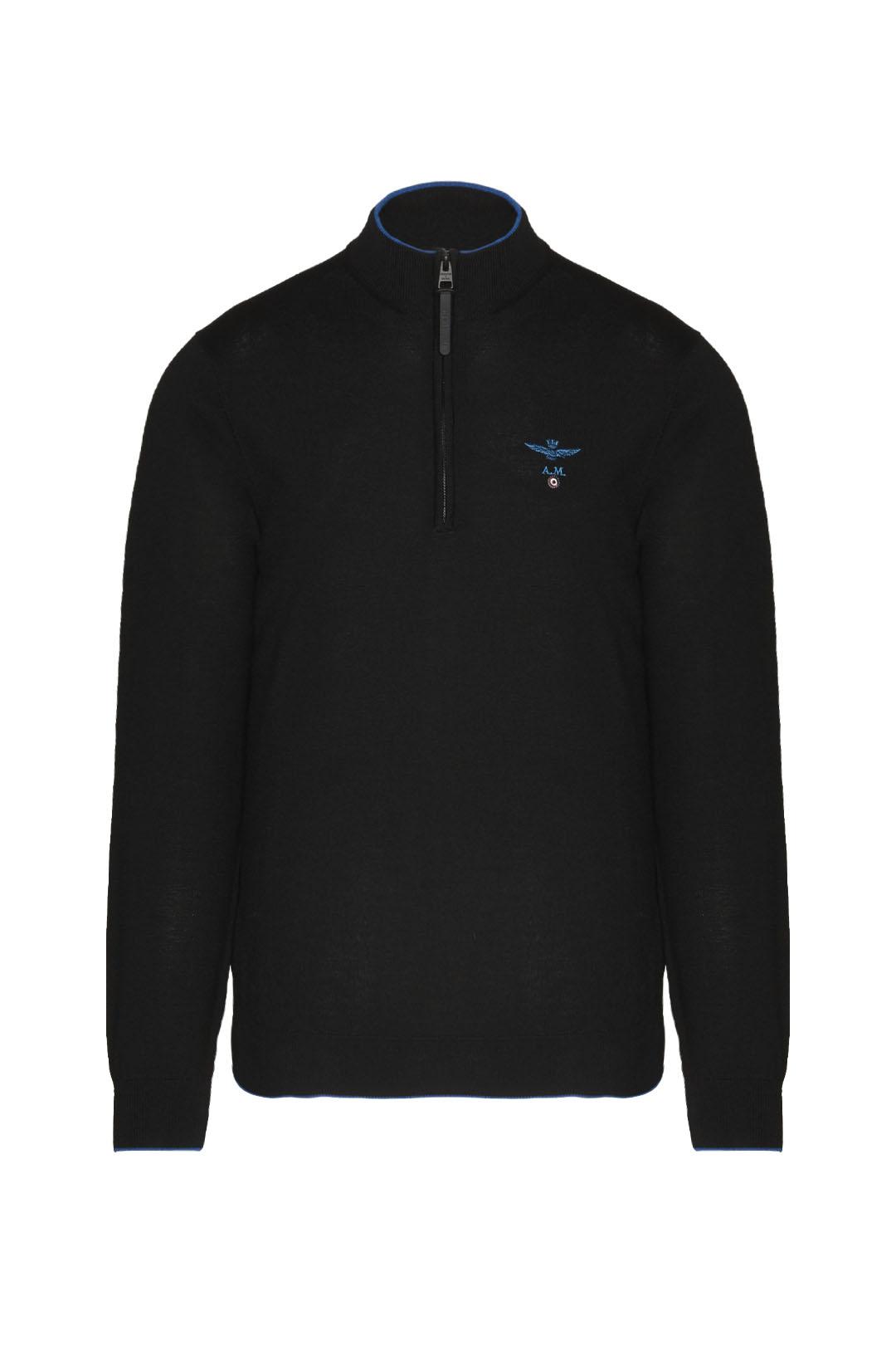 Merino wool half zip sweater             1