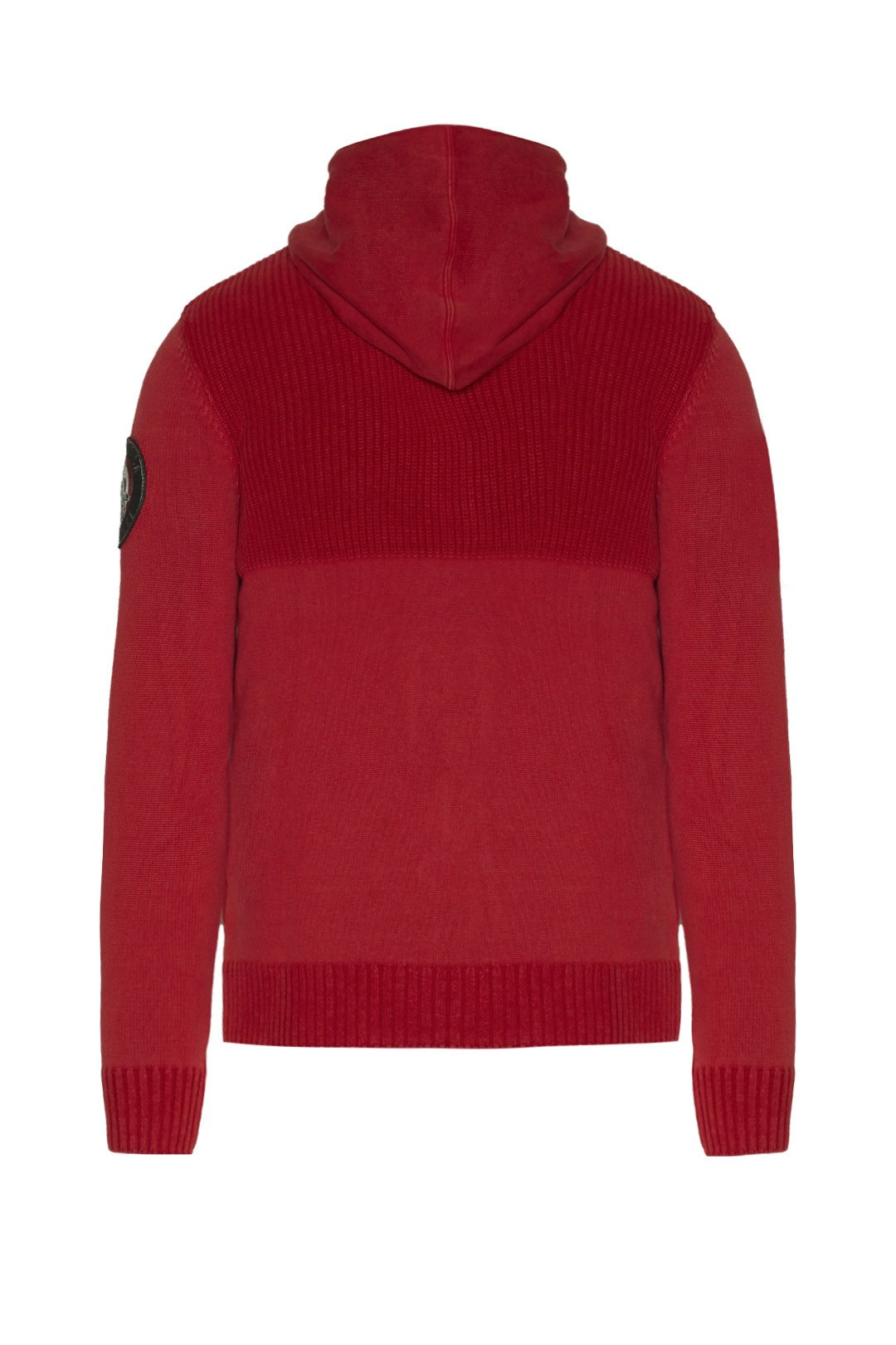 Full-zip hooded cotton sweater           2