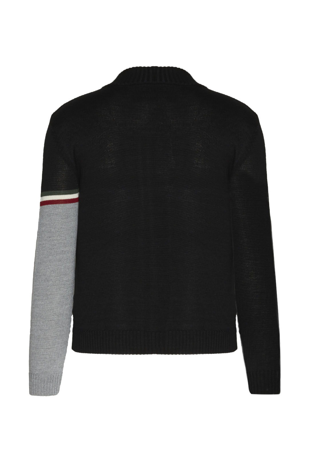 Full-zip sweater with embroideries       2