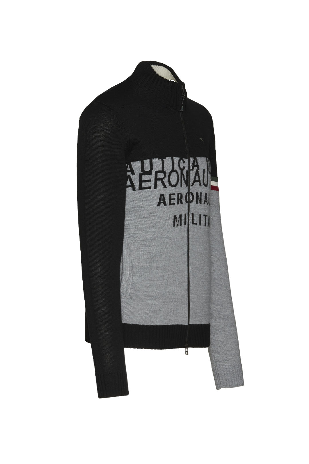 Full-zip sweater with embroideries       3