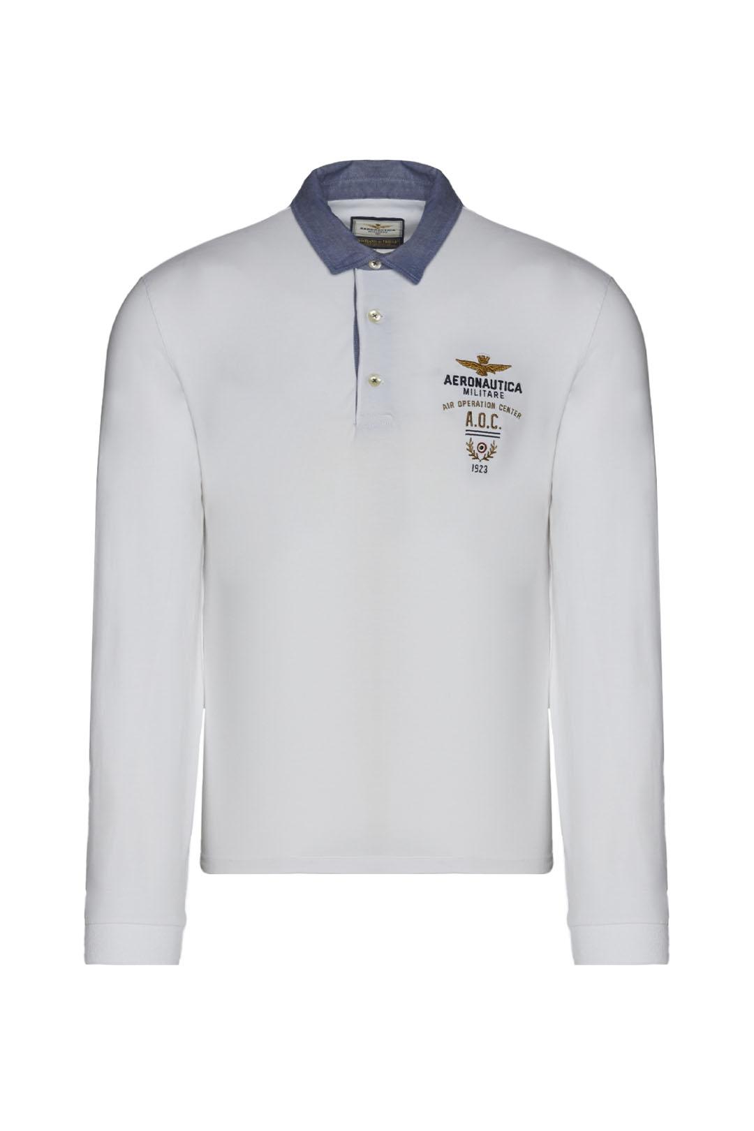 Polo shirt with Oxford cloth collar      1
