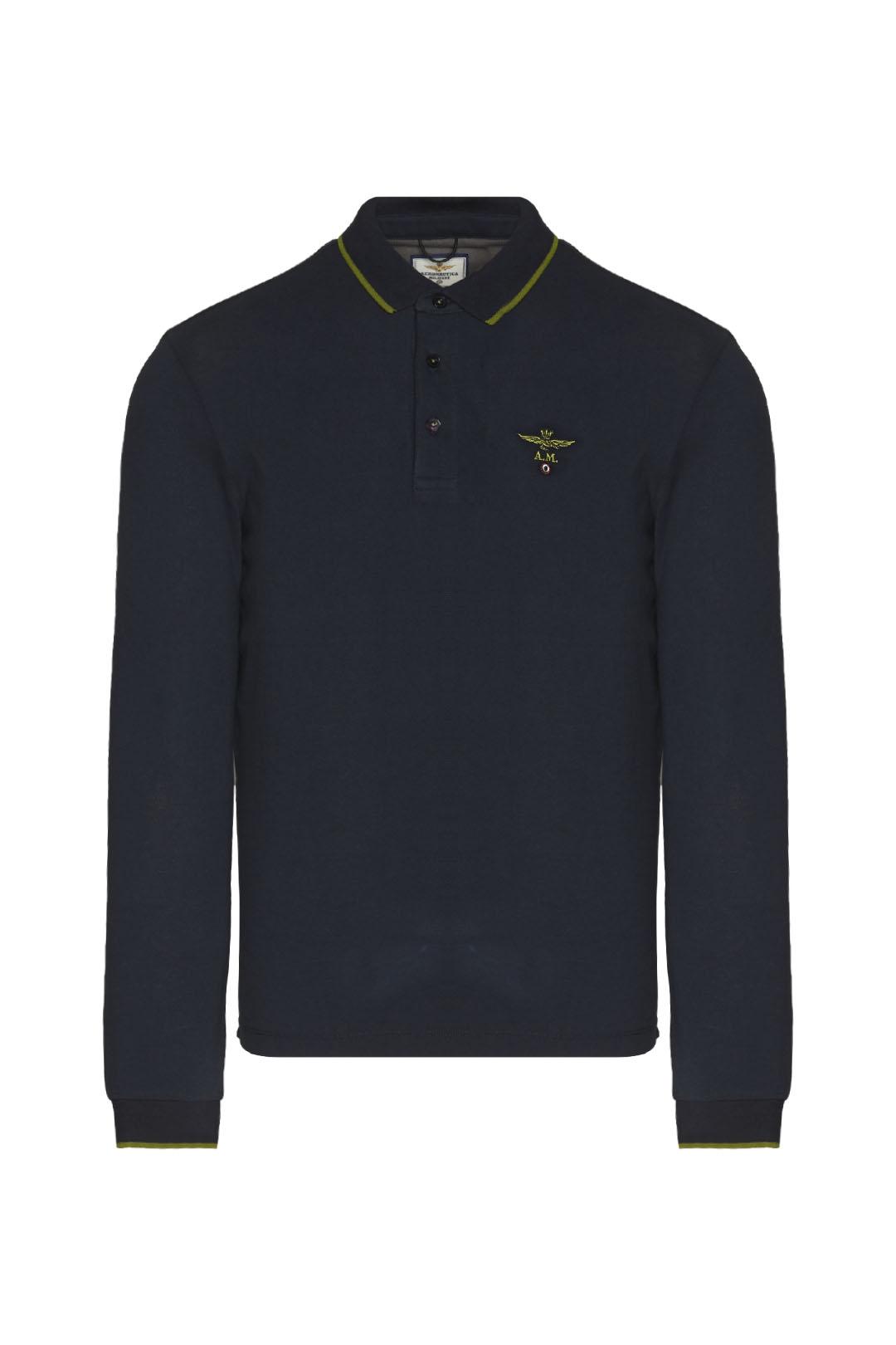 Basic long-sleeved polo shirt            1