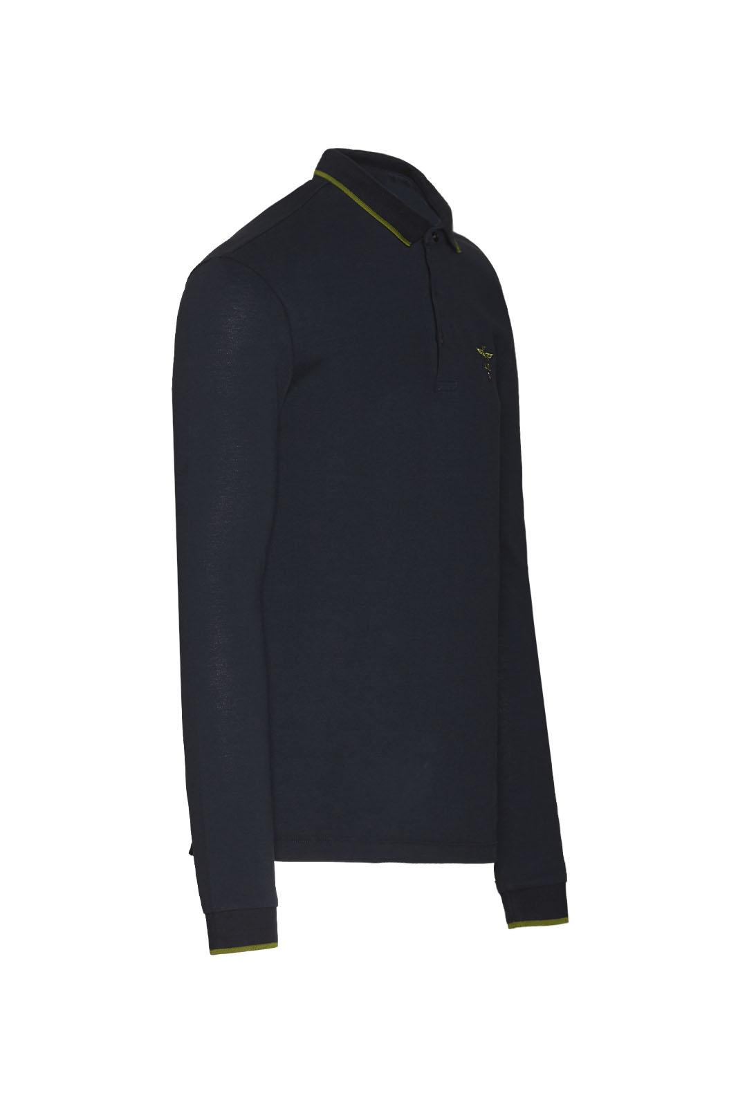 Klassisches Poloshirt mit langen Ärmeln  3