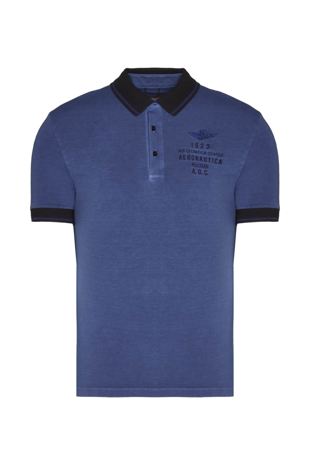 Short-sleeved pigment-dyed polo shirt    1