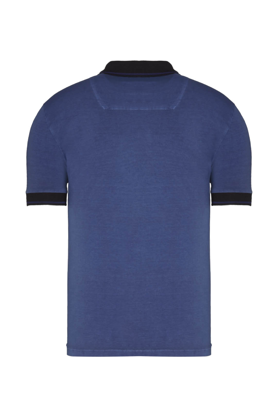 Short-sleeved pigment-dyed polo shirt    2