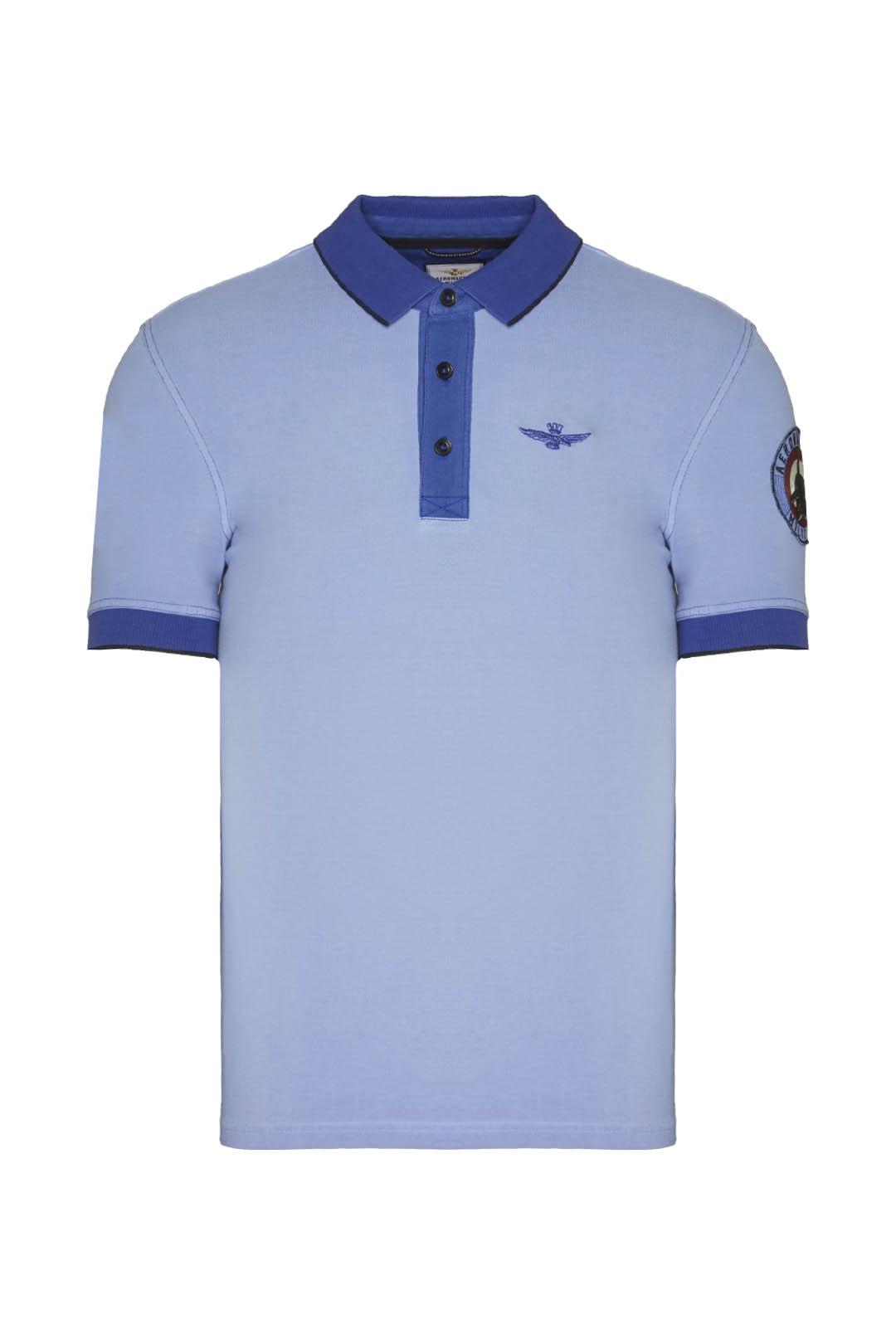 102°Gruppo Poloshirt mit Kontrastdetails 1