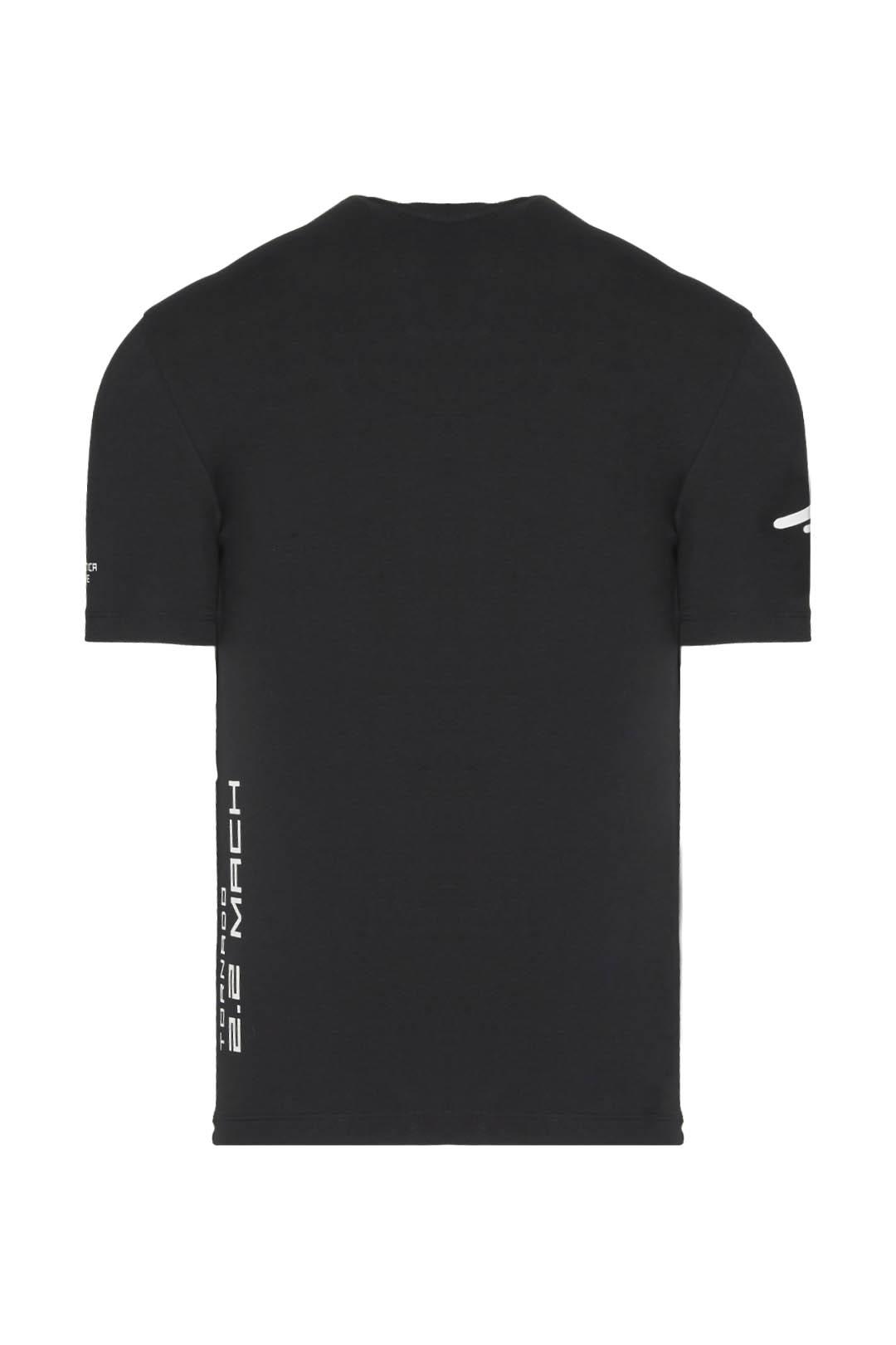 T-Shirt mit Adler Kontrastdruck          2