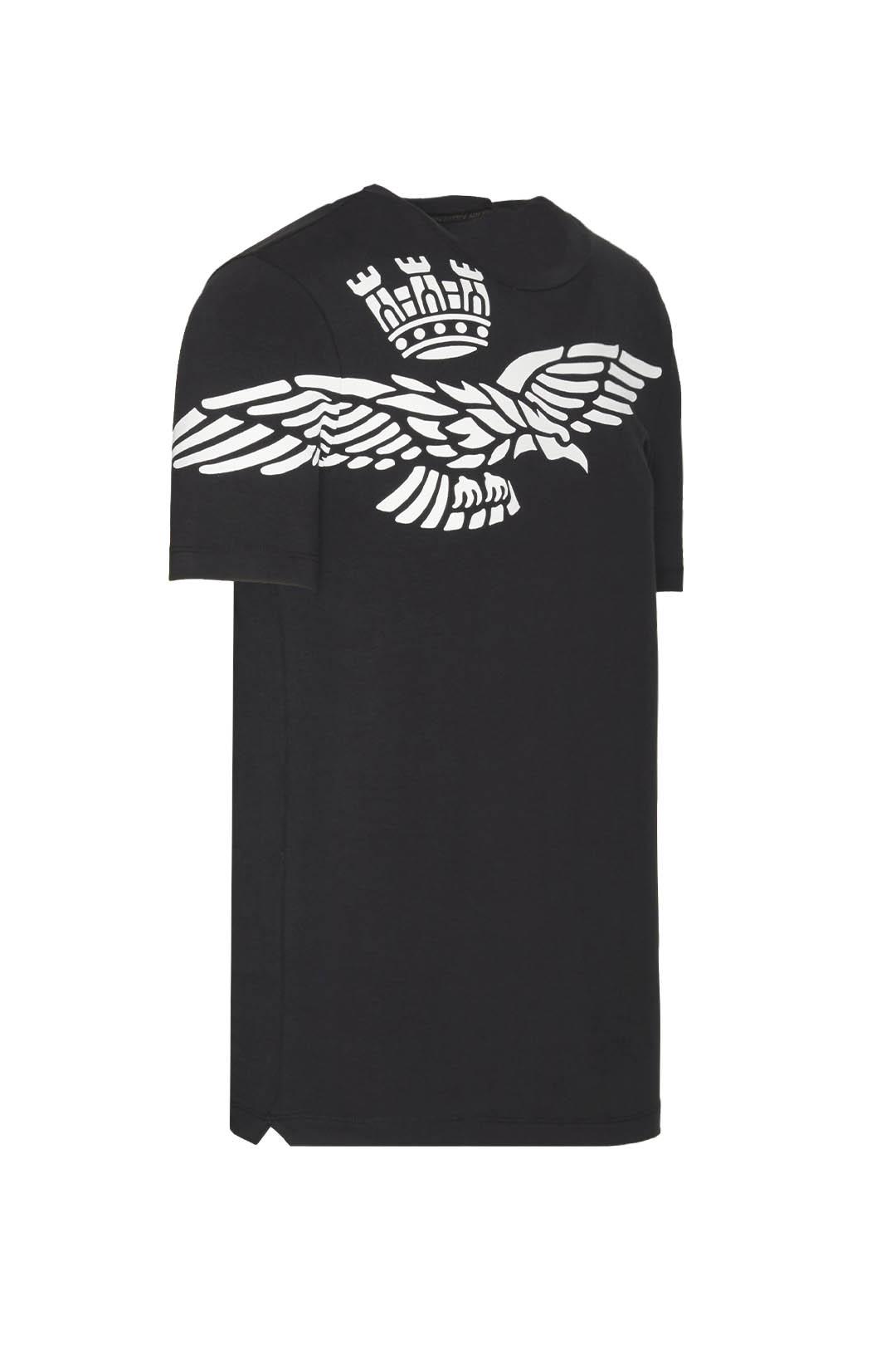 T-Shirt mit Adler Kontrastdruck          3