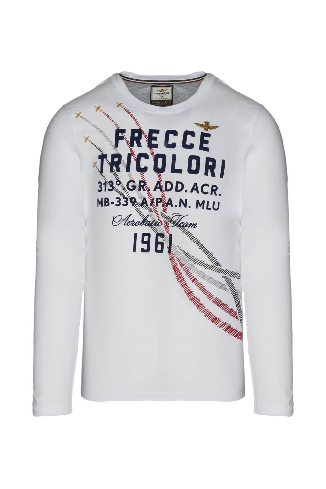 T-Shirt mit trikoloren Spuren            1