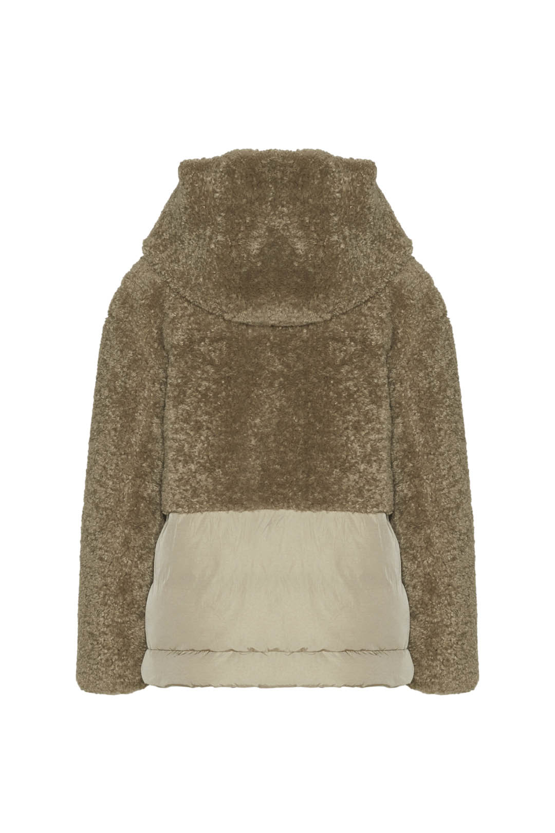 Hooded faux fur padded jacket            2