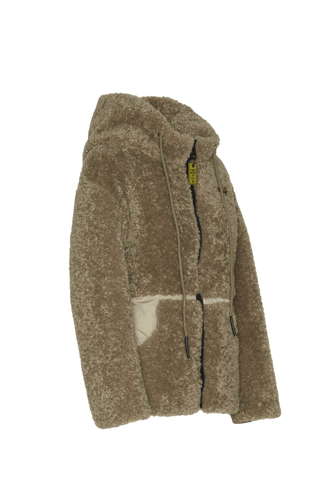 Hooded faux fur padded jacket            3