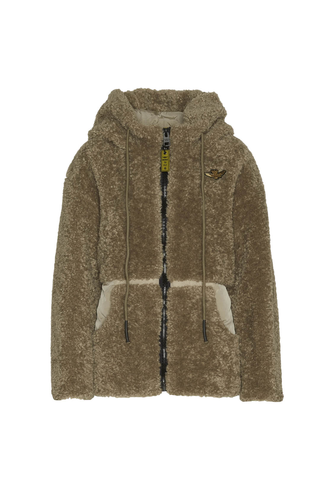 Hooded faux fur padded jacket