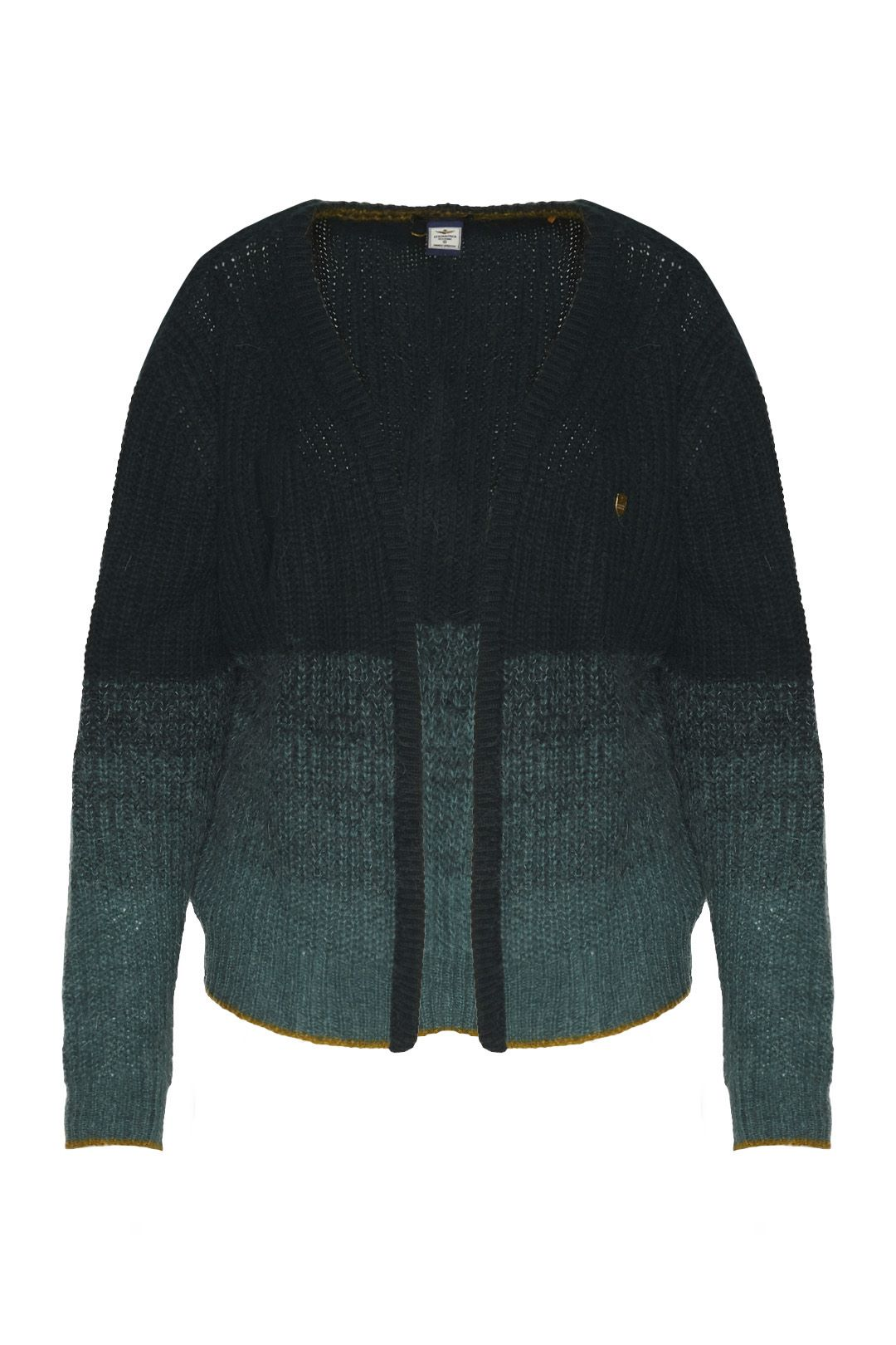 Cardigan in cashmere and mohair blend