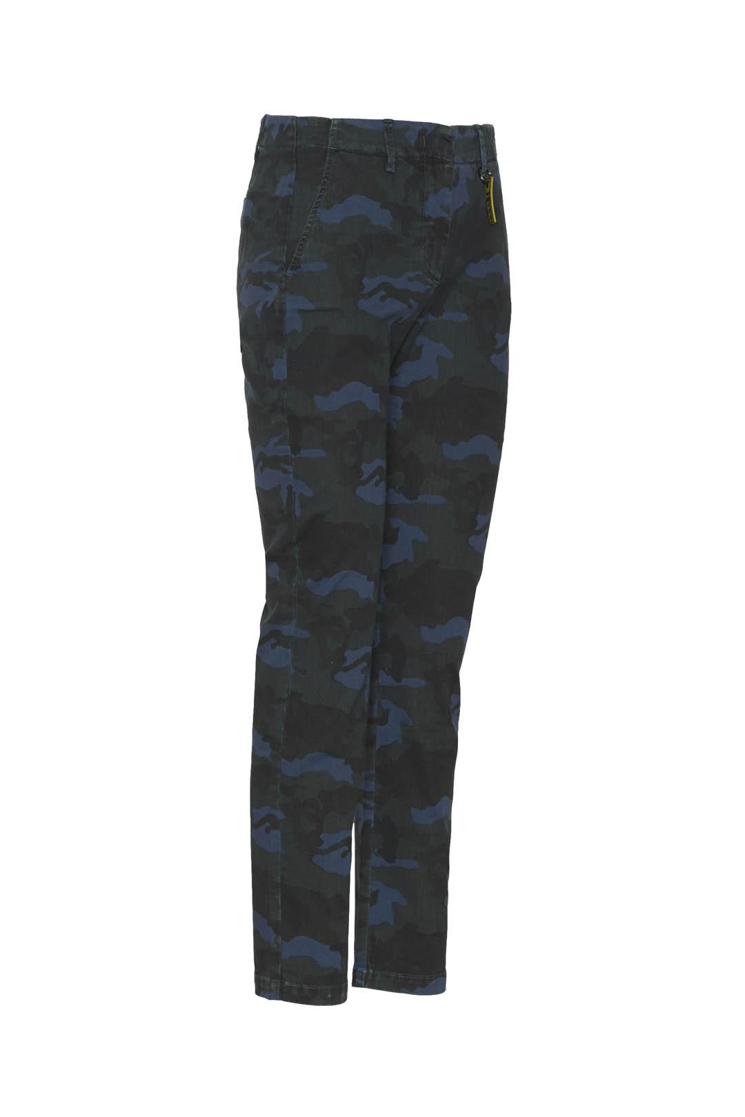 Camouflage gabardine chino trousers      3