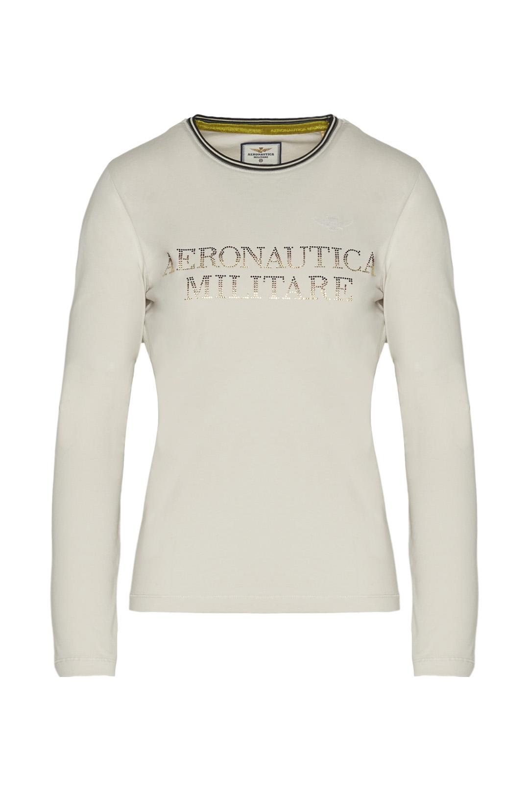 Long sleeve t-shirt with rhinestones