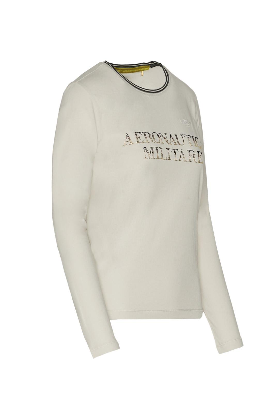 T-shirt manica lunga con strass          3
