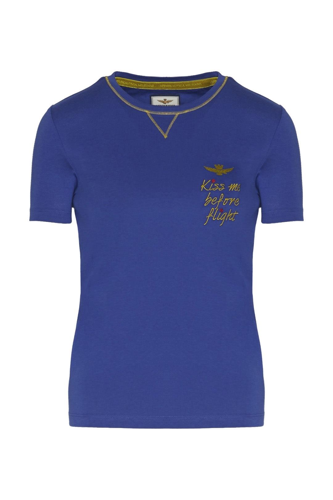 T-shirt col rond avec broderie           1