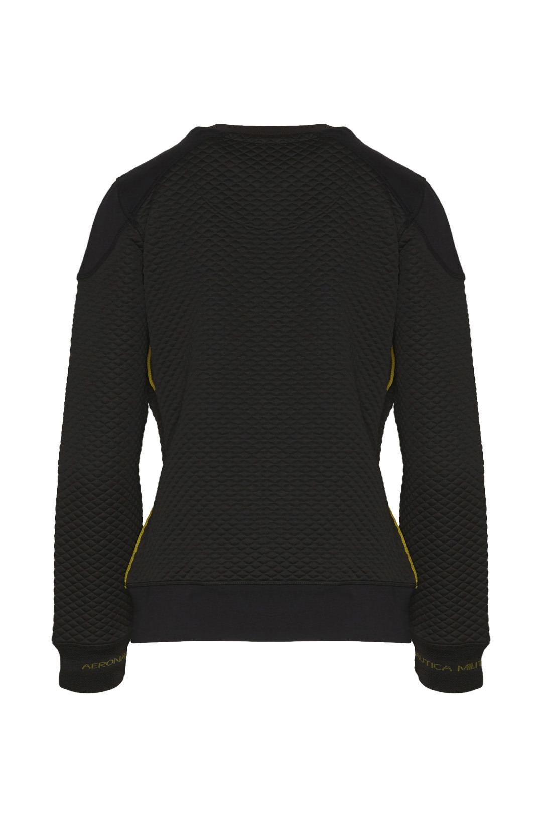 Quilted round neck sweatshirt            2