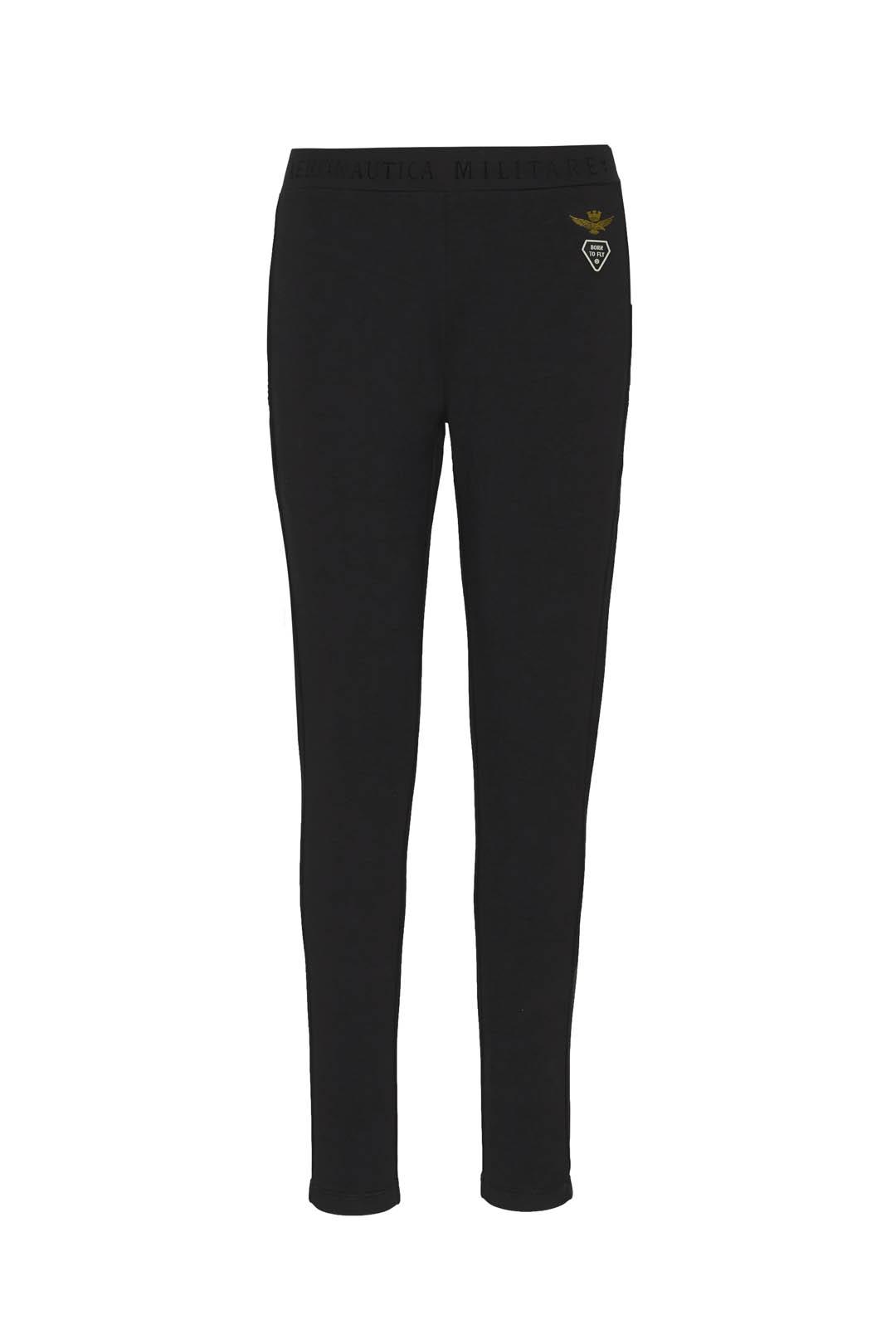Skinny stretch cotton sweatpants