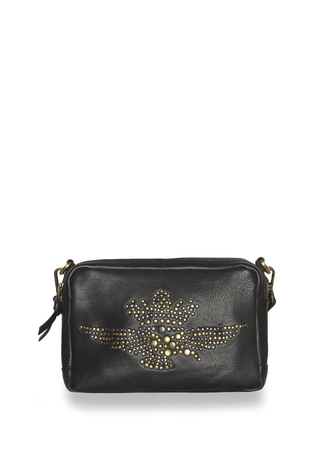 Woman leather bag with studded eagle     1