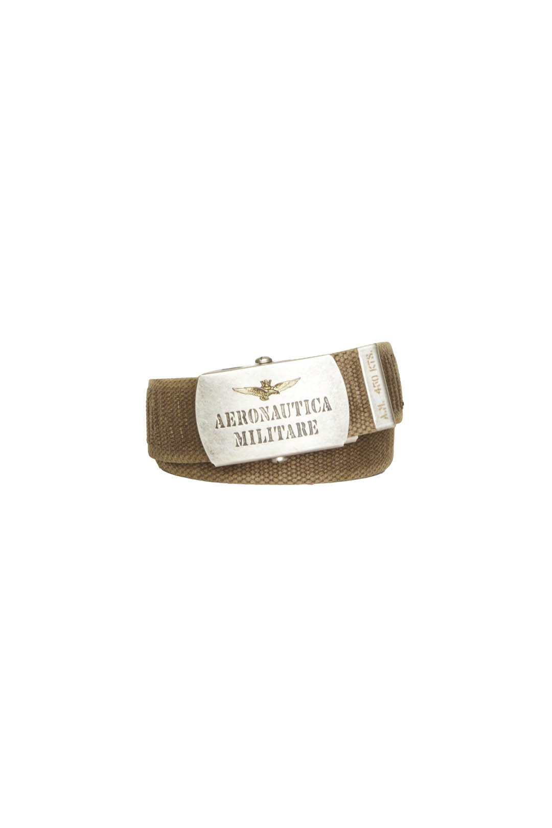 Cotton belt with metal plate buckle